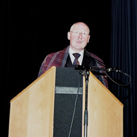 Leo Schenk, Director of the Tropenmuseum and joint host of the launch of 'Legacy of Cloth' in the Soeterjin theatre at the Tropenmuseum on 15 May 2009